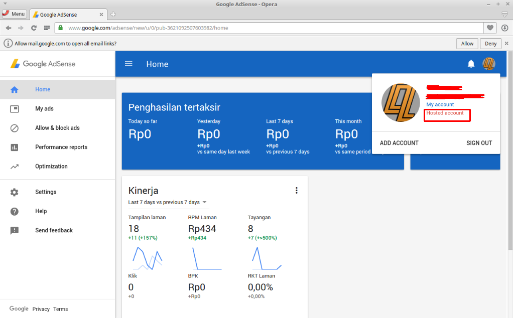 Upgrade Akun Google Hosted